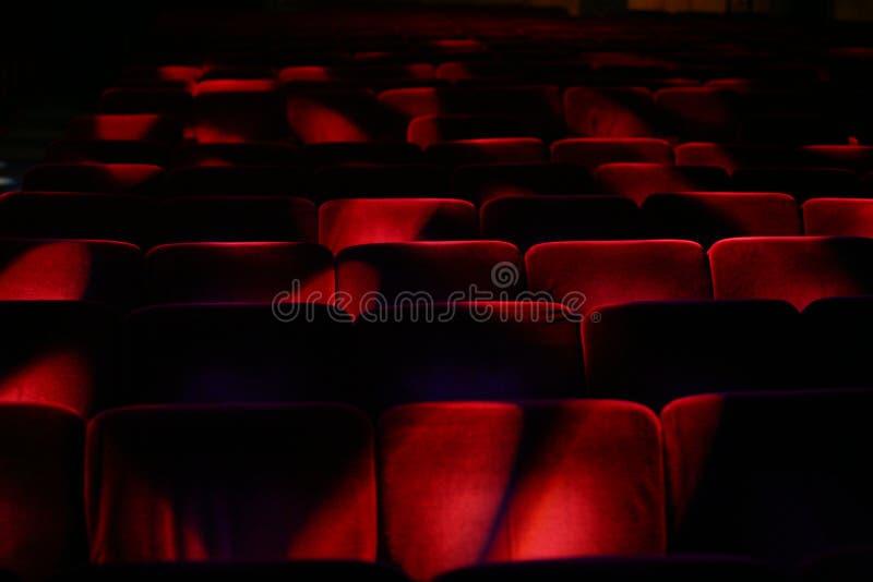 听众空的剧院 免版税库存图片