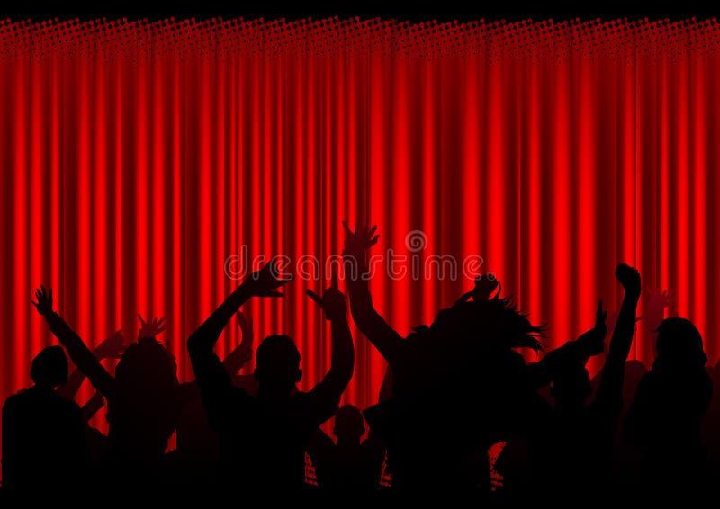 听众音乐会 向量例证
