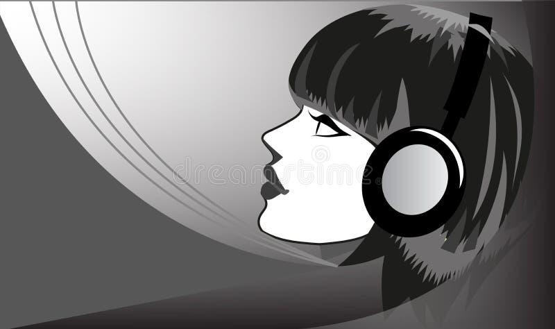 听到音乐 库存例证