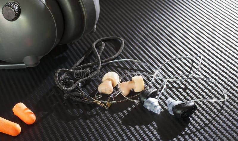听力保护 库存照片