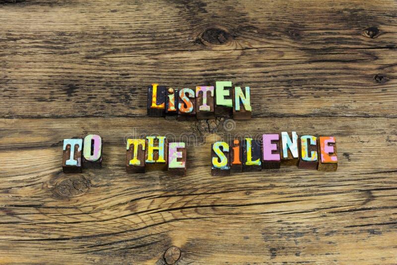 听沈默智慧知识软软地讲安静沈默 免版税库存图片