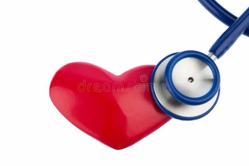 听诊器和心脏 库存照片