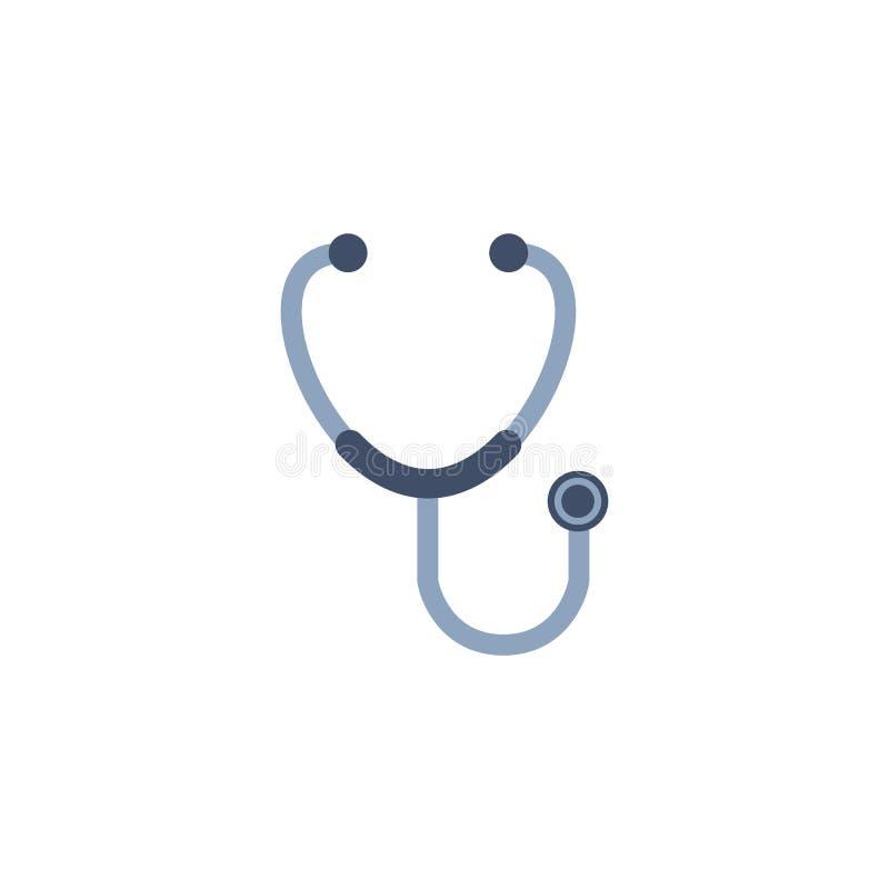听诊器 黑色更改图标肝脏医疗保护白色 查出在白色 向量 向量例证
