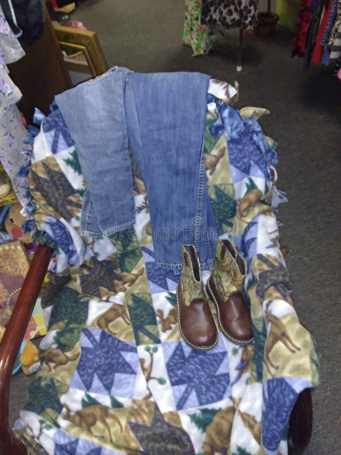 启动牛仔裤 免版税库存图片