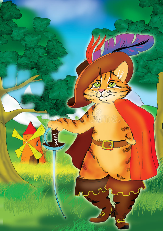 启动猫同盟七 向量例证