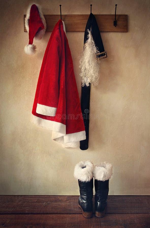 启动coatrack服装圣诞老人 库存图片