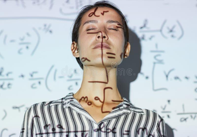 启发与数学 免版税库存图片