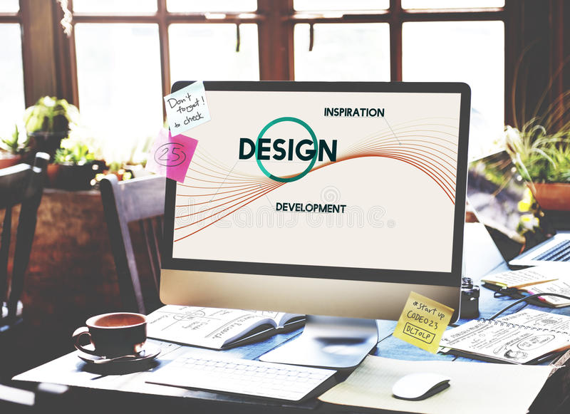 启发发展设计创造性思为概念 库存照片