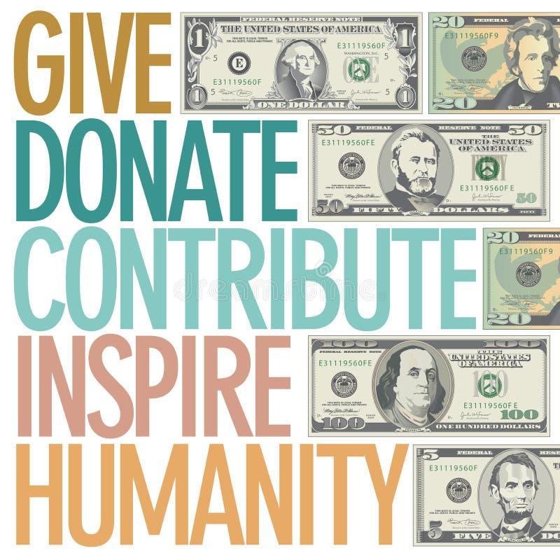 启发慈善给的设计 库存例证