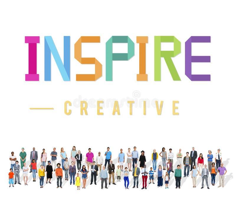 启发有希望相信志向视觉创新概念 图库摄影
