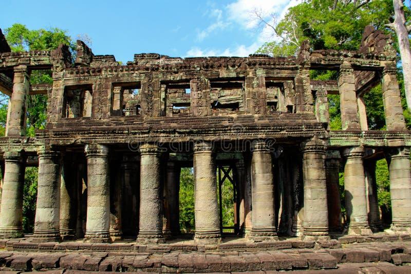 吴哥寺庙在暹粒市,柬埔寨 免版税库存照片
