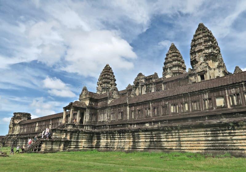 吴哥窟在柬埔寨东南亚 库存照片