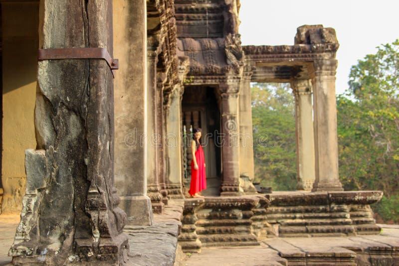 吴哥窟寺庙在暹粒市 库存照片