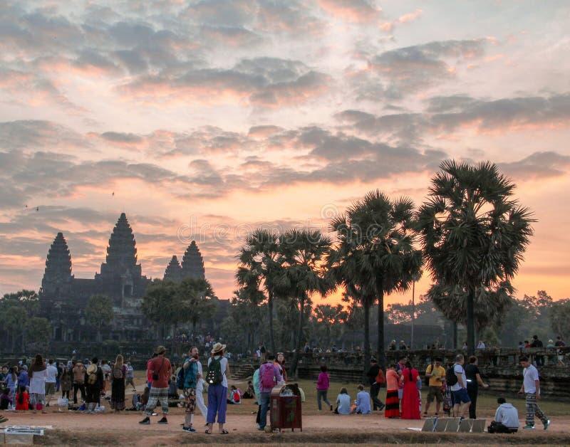 吴哥窟寺庙在暹粒市 图库摄影