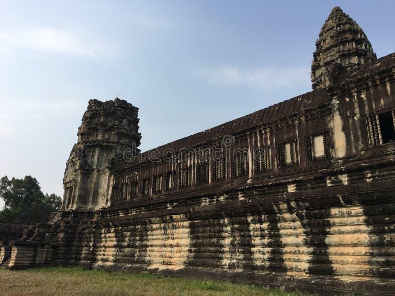 吴哥窟寺庙废墟在柬埔寨 免版税库存图片