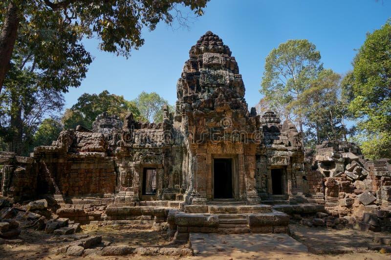 吴哥窟,柬埔寨寺庙的废墟  免版税库存图片