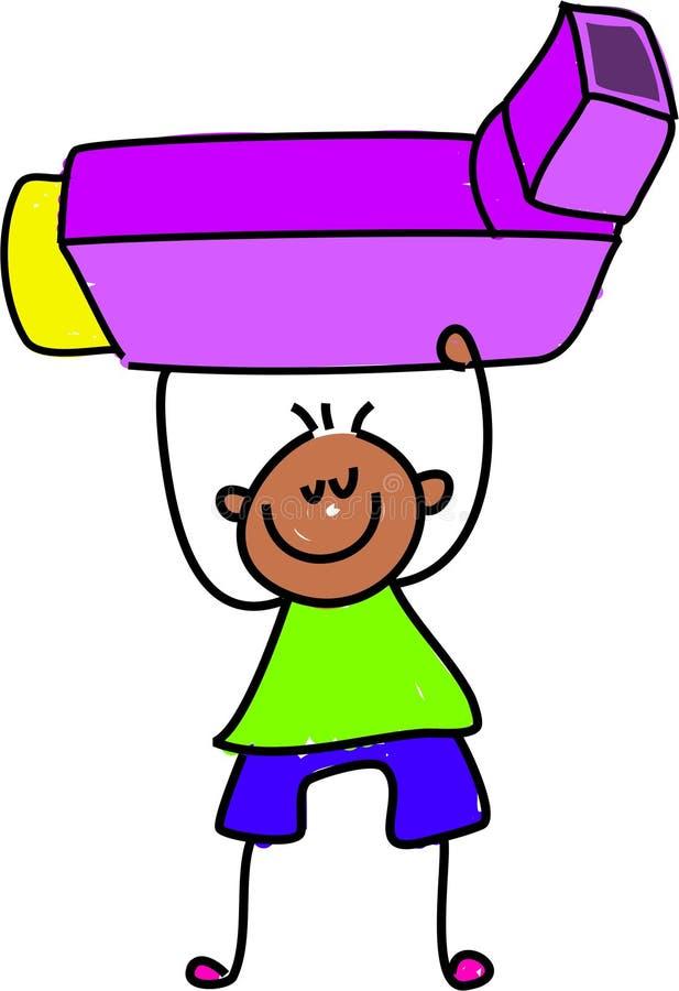 吸入器孩子 向量例证