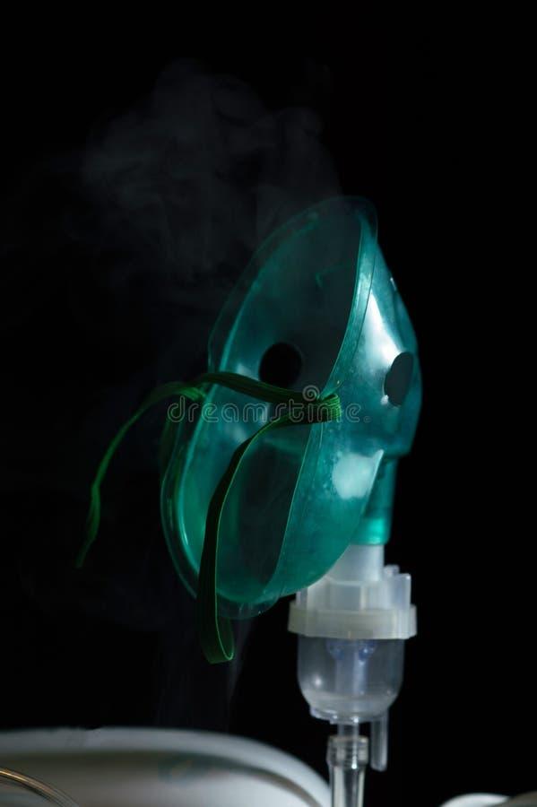 吸入的吸入器在家呼吸道疾病的 免版税库存图片