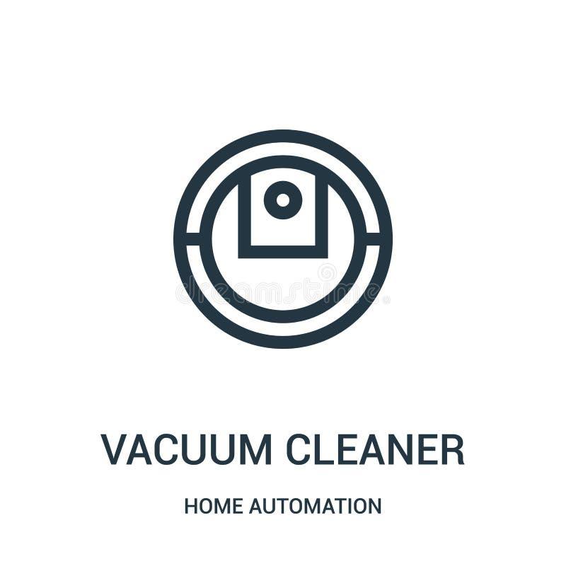 吸尘器从家庭自动化汇集的象传染媒介 稀薄的线吸尘器概述象传染媒介例证 ?? 皇族释放例证