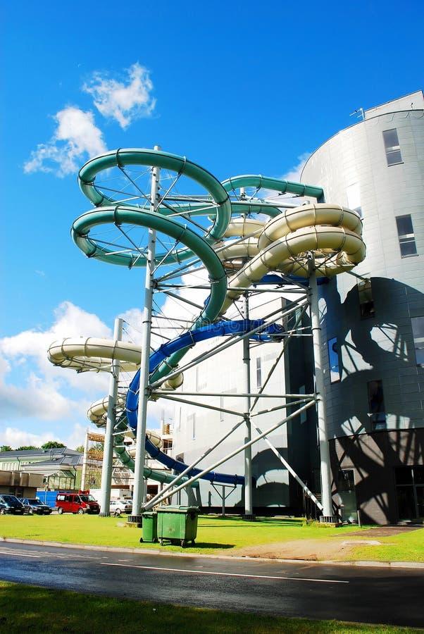 水吸引力公园在德鲁斯基宁凯温泉城市 库存照片