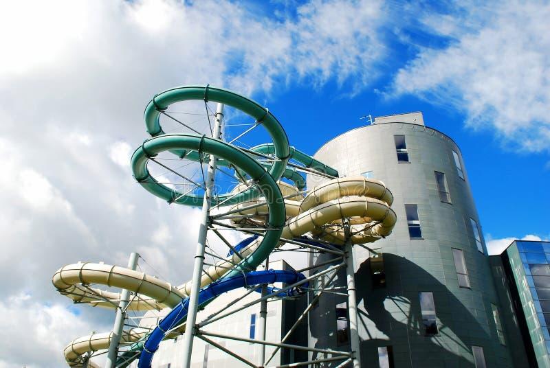 水吸引力公园在德鲁斯基宁凯温泉城市 库存图片