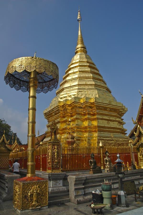 吸引力chiang doi mai suthep泰国 库存图片