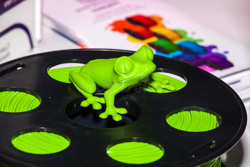 吸收3d打印机的导线塑料 图库摄影