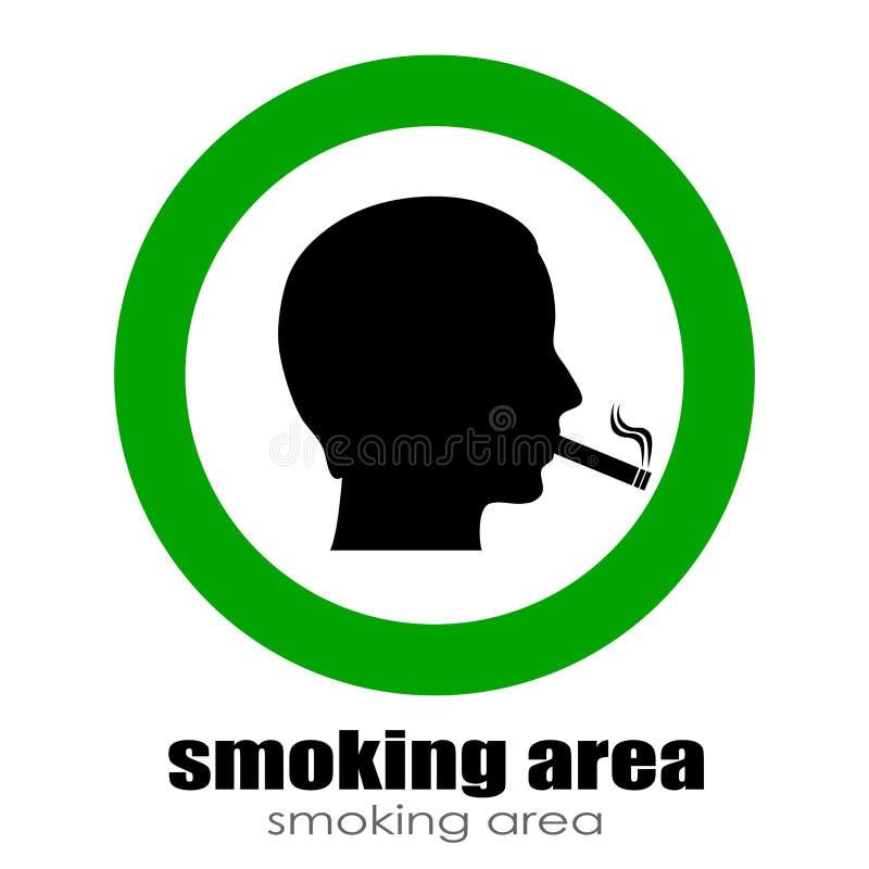 吸烟室 库存例证