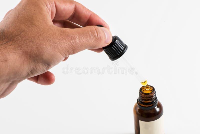 吸管和瓶有背景 图库摄影