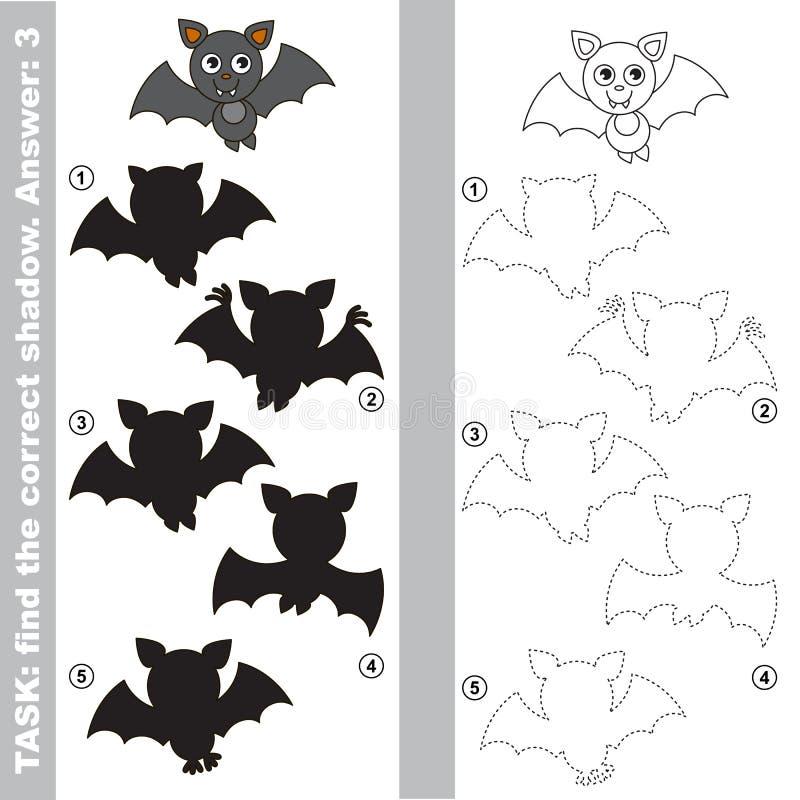 吸血蝙蝠 发现真实的正确阴影 库存例证