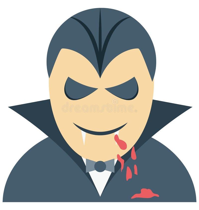 吸血鬼人为万圣夜隔绝了彩色插图象特别用途 库存例证