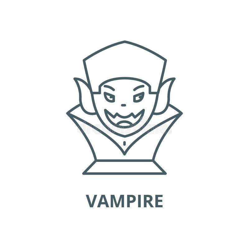 吸血鬼传染媒介线象,线性概念,概述标志,标志 皇族释放例证