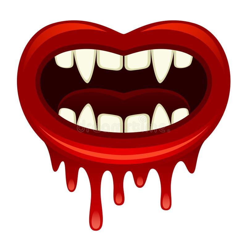 吸血鬼嘴 向量例证
