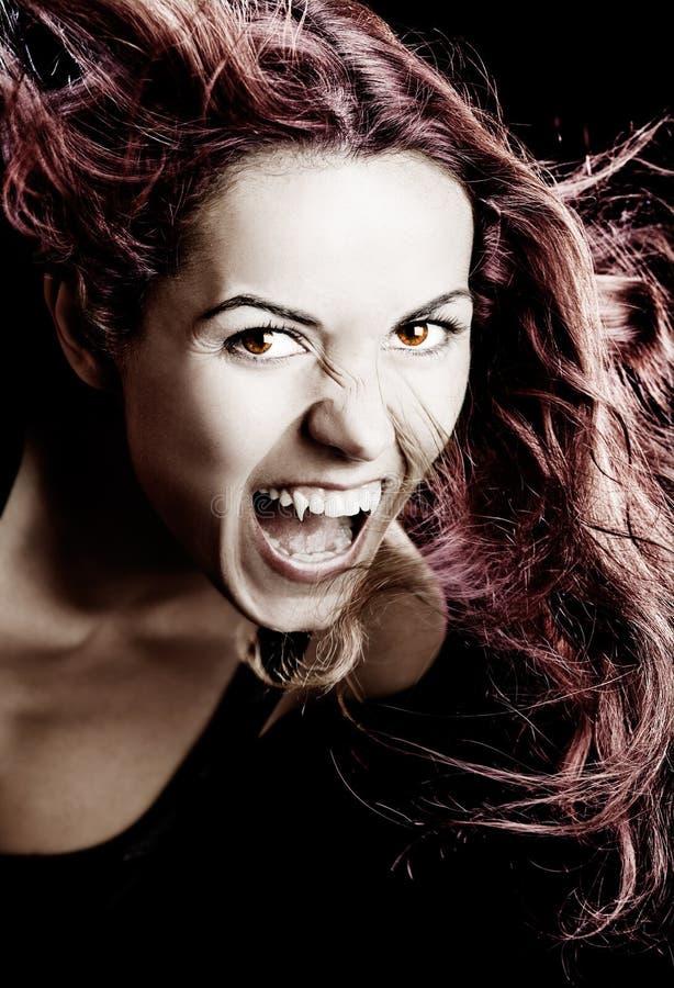 吸血鬼妇女 免版税库存照片