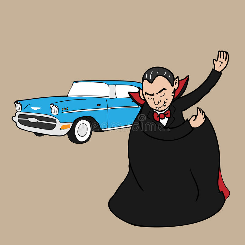 吸血鬼经典之作汽车 库存例证