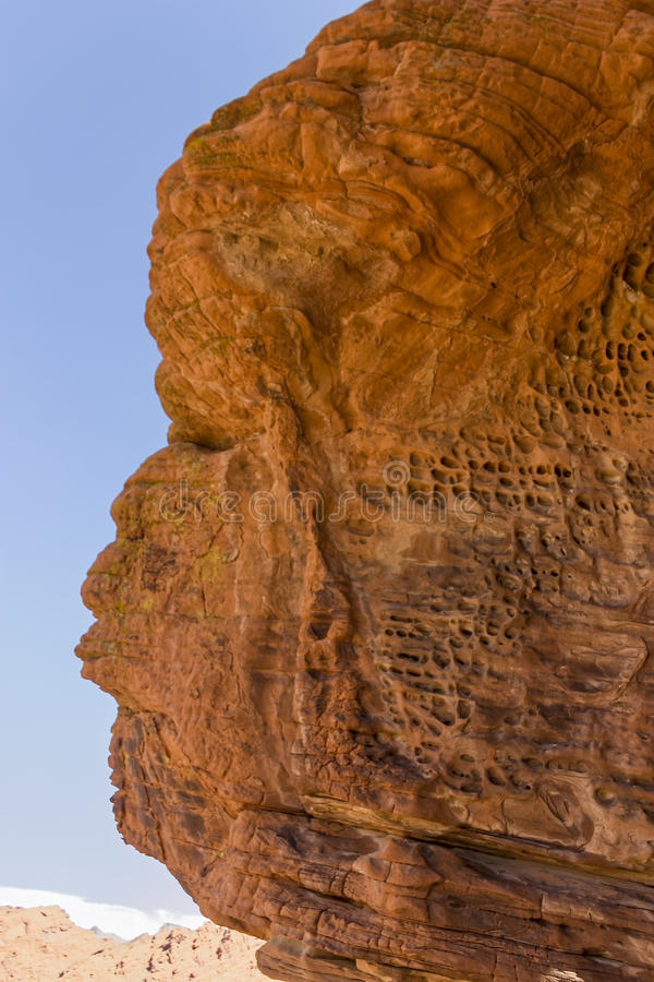 吹哨的岩石在内华达 免版税库存照片