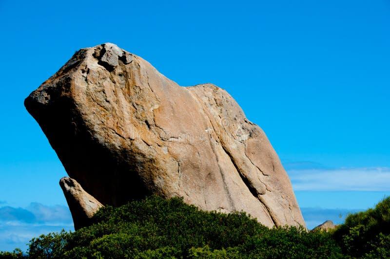 吹哨的岩石 免版税库存照片
