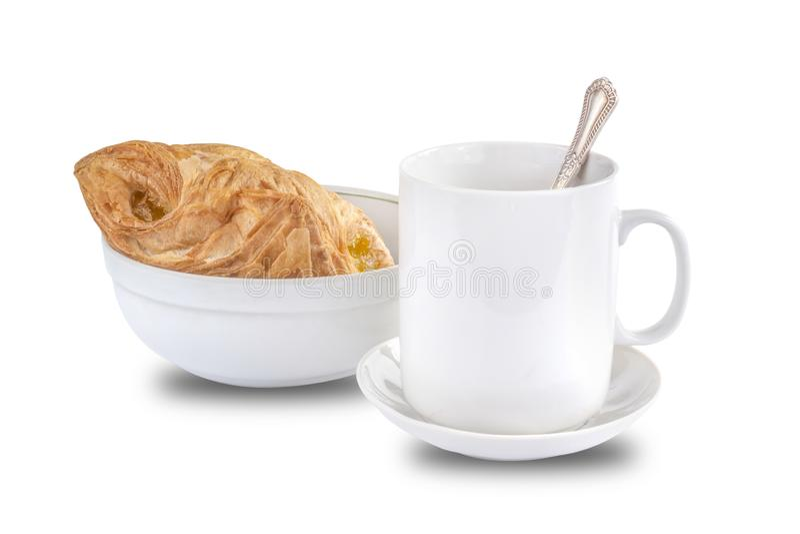 吹用果酱和一杯茶 库存图片