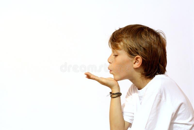 吹的亲吻 免版税库存图片