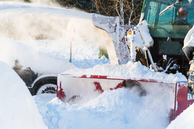 吹雪机 库存照片
