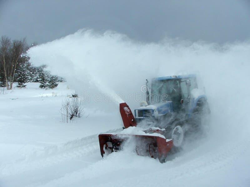 吹风机加拿大qc农村雪 免版税库存照片