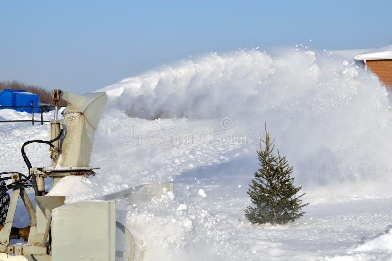 吹风机雪 库存照片