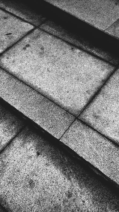 呈杂色的地面,黑白, 免版税库存图片