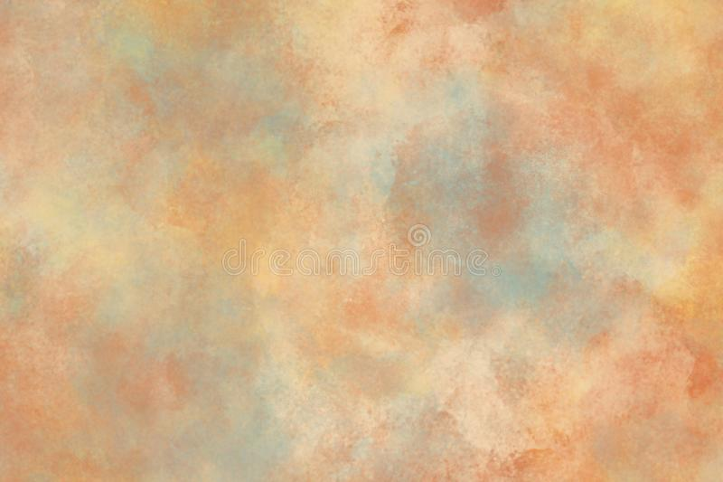 呈杂色的橙色蓝色背景纹理 库存照片