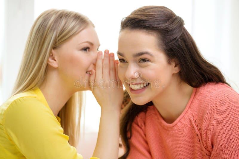 告诉一个的女孩另一个秘密 库存图片