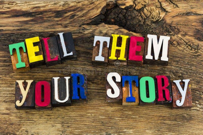 告诉他们您的故事经验 免版税图库摄影