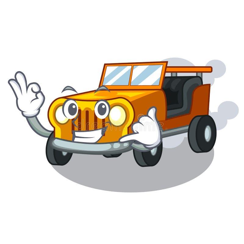 告诉我吉普在前面赦免的动画片汽车 皇族释放例证