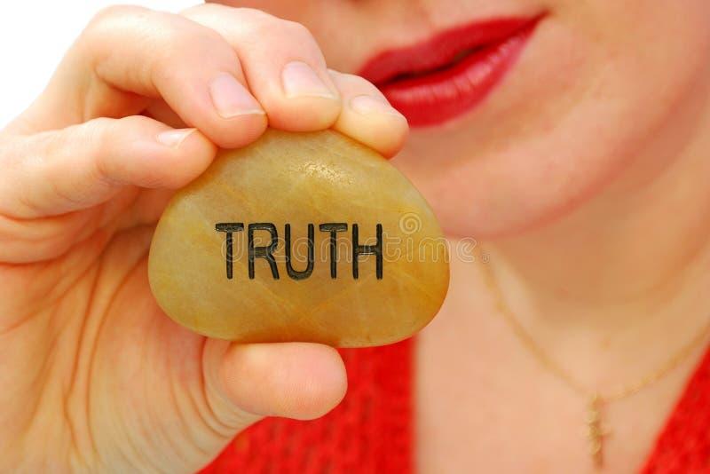 告诉真相 库存照片