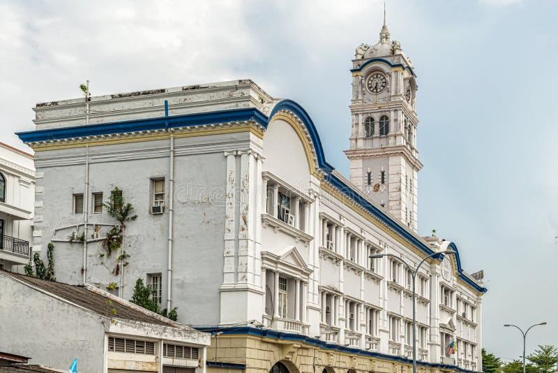 周年纪念尖沙咀钟楼,在乔治市,槟榔岛,马来西亚 库存照片