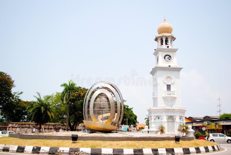 周年纪念尖沙嘴钟楼槟榔岛 库存图片
